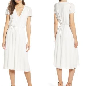 [Wayf] White Blouson Dress